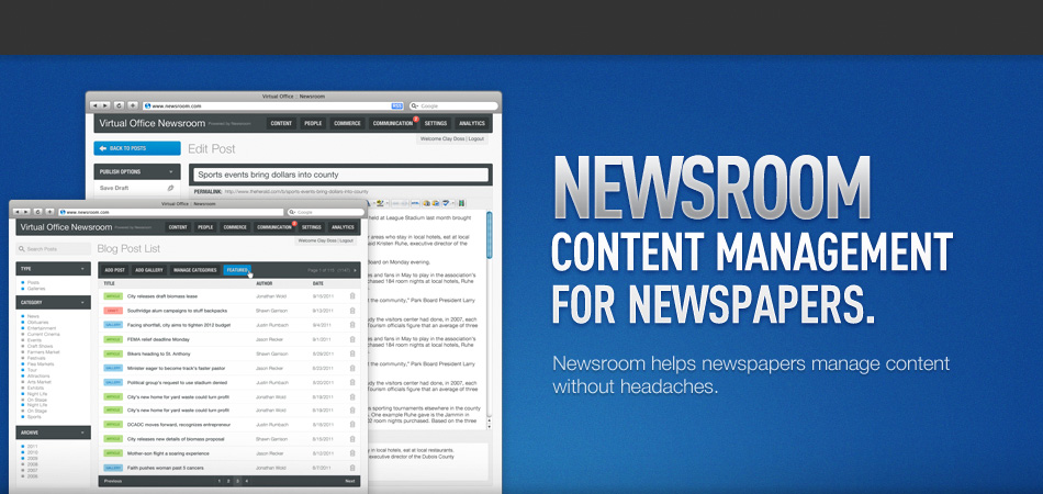 Online Newspaper Content Management System Cms Newsroom By